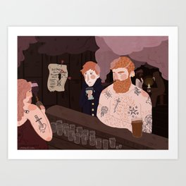 sailors love their dingy bars Art Print