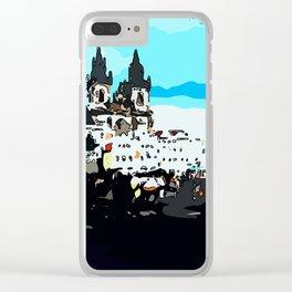 Prague Praha Clear iPhone Case