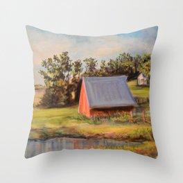 Nestled in the Farmland Throw Pillow
