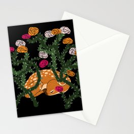 Fawn in Roses Stationery Cards
