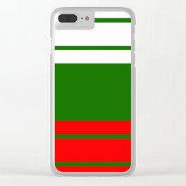 Team Colors 9...red , green  and white Clear iPhone Case