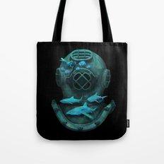 Deep Diving Tote Bag