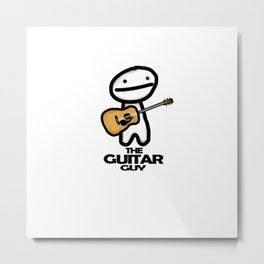 The Guitar Guy Metal Print