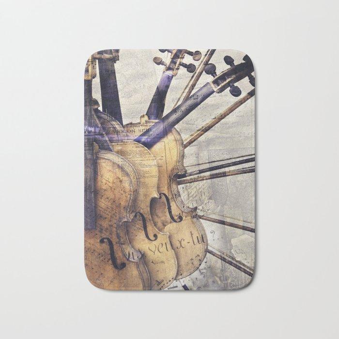 Classic Violins Bath Mat