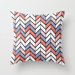 Summer Chevron Throw Pillow