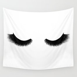 black and white eyelashes Wall Tapestry