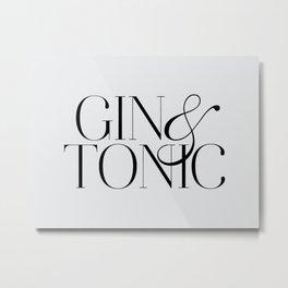 Gin Metal Print