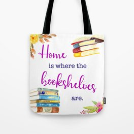 Home is Where the Bookshelves Are Tote Bag