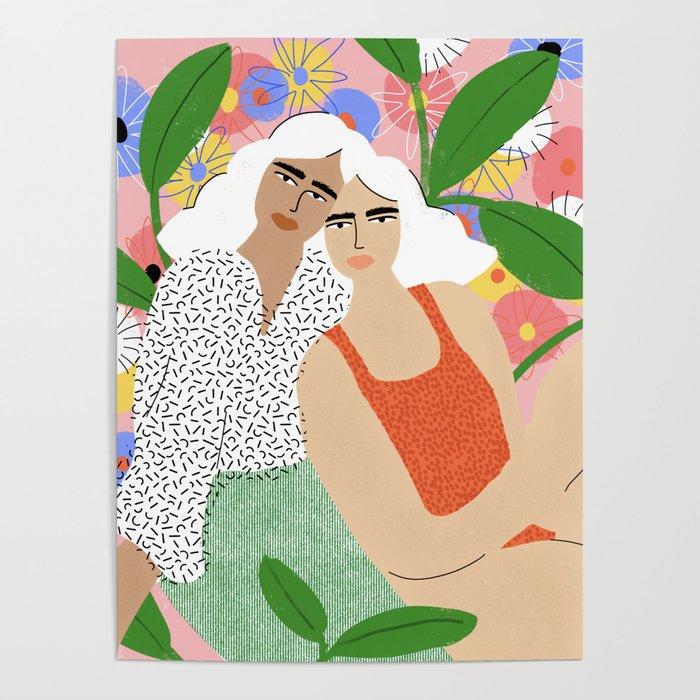 Bonding Over Plants Poster