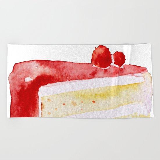 Cherry Cake Beach Towel