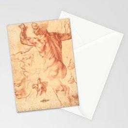 "Michelangelo Buonarroti ""Studies for the Libyan Sibyl"" Stationery Cards"