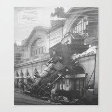 The Gare Montparnasse Train Accident  - France Canvas Print