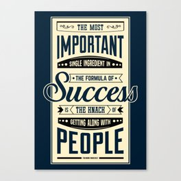 Lab No. 4 The Most Important Theodore Roosevelt Motivational Quotes Canvas Print