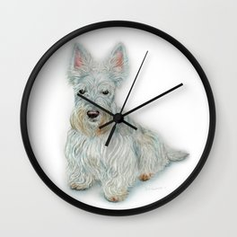 Wheaten Scottish Terrier Wall Clock