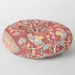 Tree with Peacocks. Indian style. Kalamkari. Floor Pillow