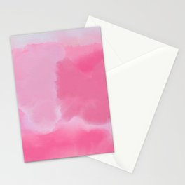 Abstract Hand Painted Pink Lavender Watercolor Stationery Cards