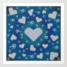 corazones Art Print
