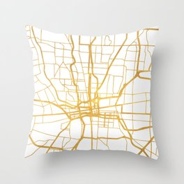COLUMBUS OHIO CITY STREET MAP ART Throw Pillow