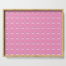 Fox pink pattern Serving Tray