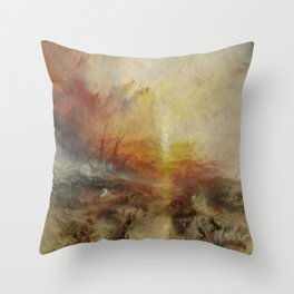 Joseph Mallord William Turner's The Slave Ship Throw Pillow