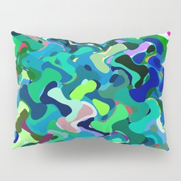 Deep underwater, abstract nautical print in blue shades Pillow Sham