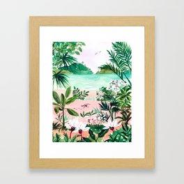 Seaside Meadow Framed Art Print