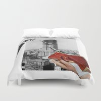 metropolis Duvet Covers featuring Metropolis by Lerson