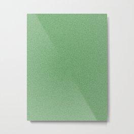 Dense Melange - White and Dark Green Metal Print