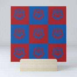 Red and Blue Nine Bulldog Cares Mini Art Print
