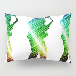Saxophone player 03 Pillow Sham