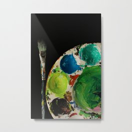 paint palette Metal Print