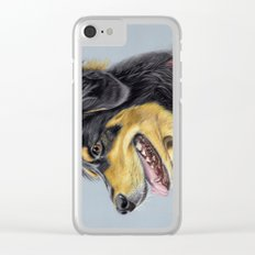 Dog Portrait 01 Clear iPhone Case