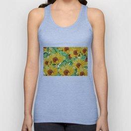 sunflower pattern Unisex Tank Top