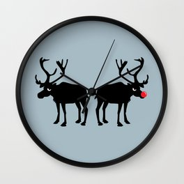 Angry Animals: Rudolph & Prancer Wall Clock