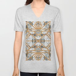 Marble Deco Shade One; Unisex V-Neck