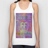 santa monica Tank Tops featuring Santa Monica, end of the trail  by Ganech joe