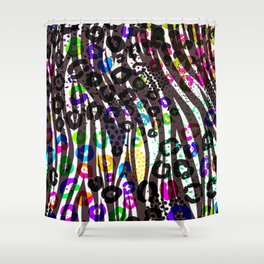 Funky Multi Color Animal Print Shower Curtain