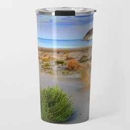 """Genoveses Beach"" Sunset at beach Travel Mug"