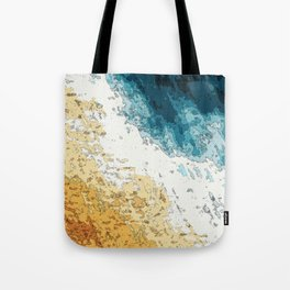 Satellite generative illustration Tote Bag