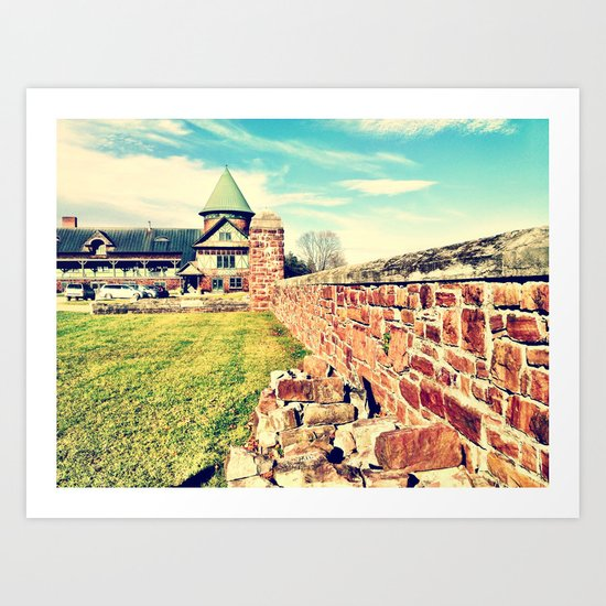 Brick Layer Art Print