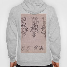 Embroidery samples plate number 13 by Jose Guadalupe Posada (1852-1913) Hoody