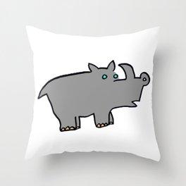 Rhino Zoo Throw Pillow