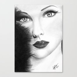The Girl with stars in her eye's Canvas Print