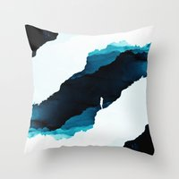 teal Throw Pillows featuring Teal Isolation by Stoian Hitrov - Sto
