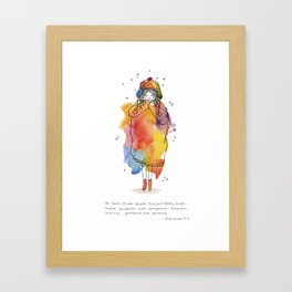 Clothed with Love Framed Art Print