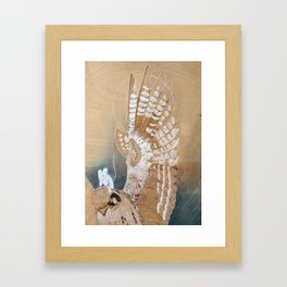 Ghost Mouse (rides again) Framed Art Print