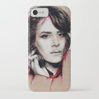 sarah paulson iPhone & iPod Cases featuring Sarah by marziiporn