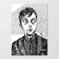 dave matthews Canvas Prints featuring dave. by Valeria Pomidoro