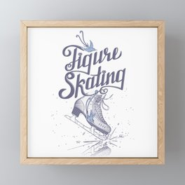 Figure skating Framed Mini Art Print