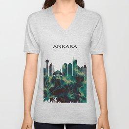 Ankara Skyline Unisex V-Neck